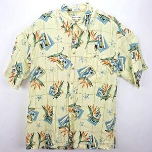 Pierre Cardin Mens Hawaiian XL Button Up Shirt